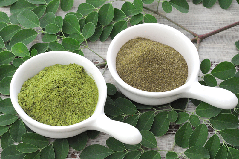 Example of grinding moringa leaves into fine powder Tasks
